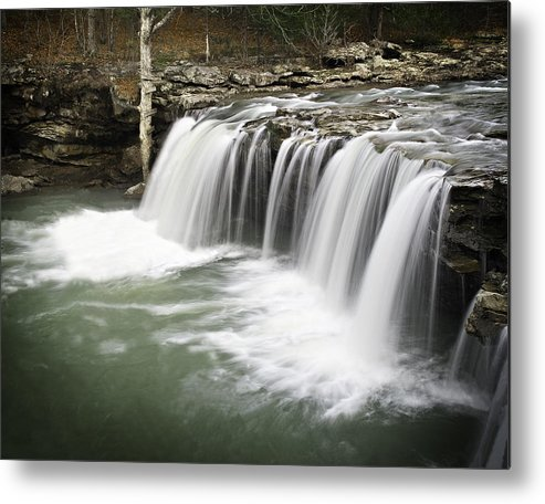 Arkansas Metal Print featuring the photograph 0805-005b Falling Water Falls 2 by Randy Forrester