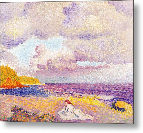 An Incoming Storm Metal Print featuring the painting An Incoming Storm by Henri-Edmond Cross