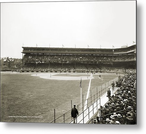 1912 Metal Print featuring the photograph Baseball Game, C1912 by Granger