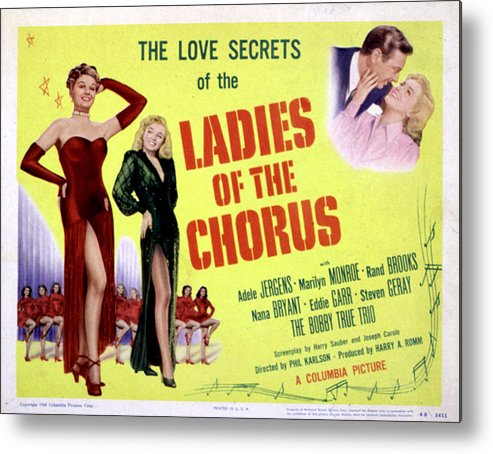 1940s Movies Metal Print featuring the photograph Ladies Of The Chorus, Adele Jergens by Everett