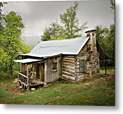 Log Cabin Metal Print featuring the photograph 1209-1144 Historic Villines Homestead by Randy Forrester