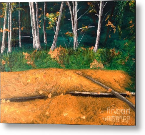 Autumn Leaves Metal Print featuring the painting Carpet Of Gold by Robert Daniells