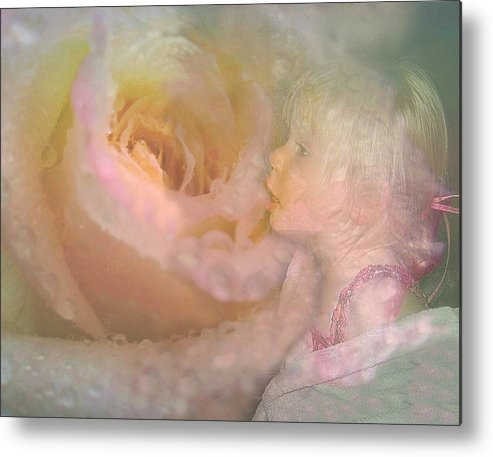 Girl Metal Print featuring the photograph Innocent Beauty by Shirley Sirois