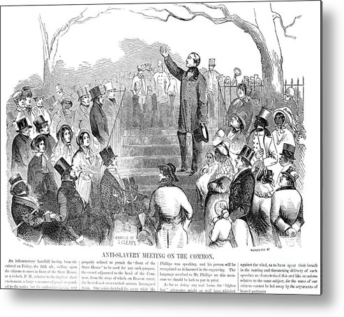 1851 Metal Print featuring the photograph Abolition: Phillips, 1851 by Granger