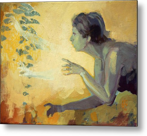 Ritual Metal Print featuring the painting Because by Katarzyna Wolodkiewicz