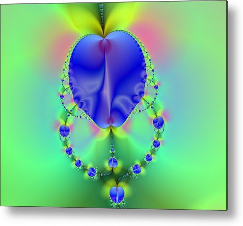 Apples Canvas Prints Metal Print featuring the digital art Blue Apples by Ester Rogers