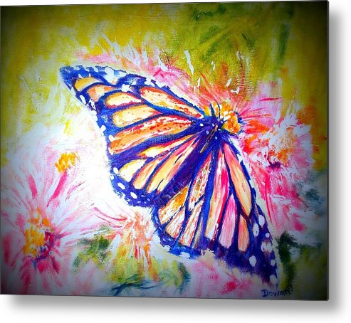 Butterfly Metal Print featuring the mixed media Butterfly Beauty 3 by Raymond Doward
