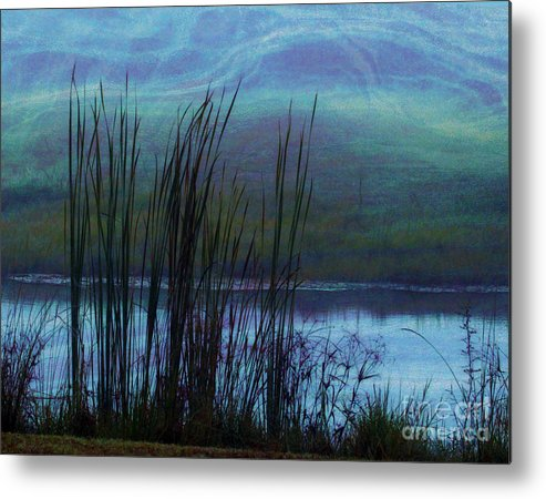 Cattails Metal Print featuring the photograph Cattails In Mist by Judi Bagwell
