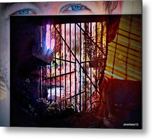 Challenge Metal Print featuring the digital art Challenge Enigmatic Imprison Himself by Paulo Zerbato