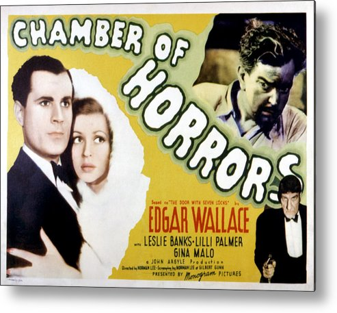 1940 Movies Metal Print featuring the photograph Chamber Of Horrors Aka Door With Seven by Everett
