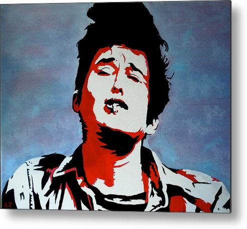 Bob Dylan Metal Print featuring the painting Dylan by Austin James