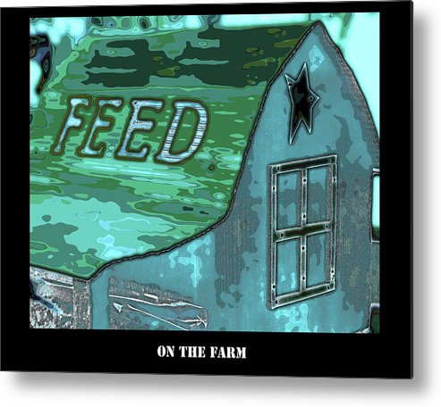 Barn Metal Print featuring the photograph Feed Store by Diana Cox