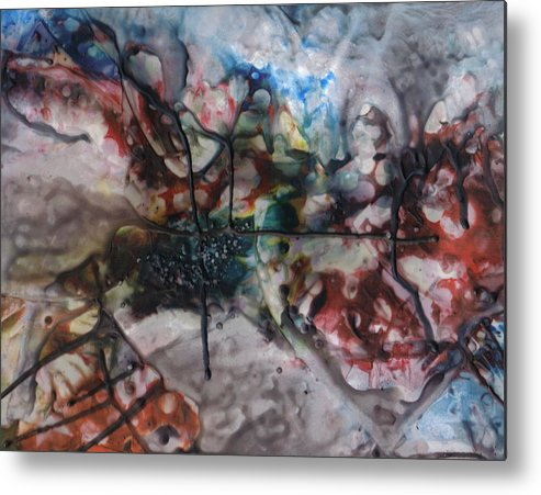 Abstract Metal Print featuring the painting Fuzzy Logic by Ramona Hartley