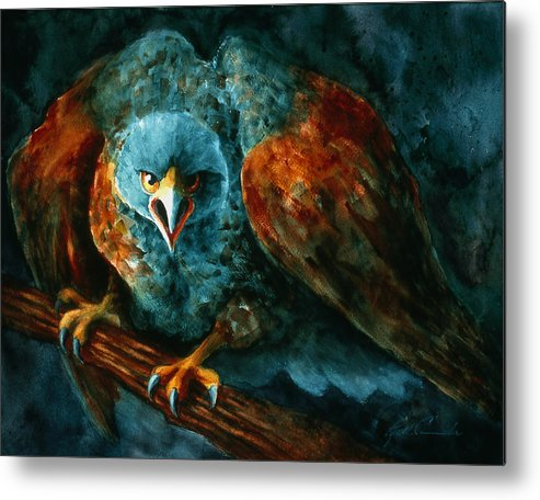 Hawk Metal Print featuring the painting Hawkeye by Ruth Canada