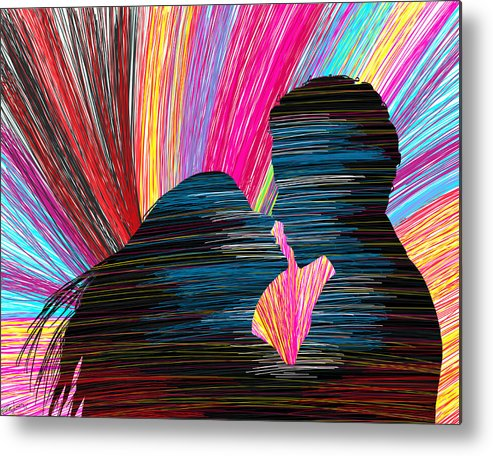 Lovers Metal Print featuring the painting Lovers In Colour No.1 by Kenal Louis