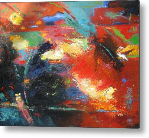 Abstract Metal Print featuring the painting New Direction 1 by Gary Coleman