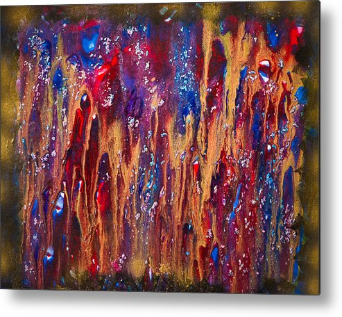 Acrylics Metal Print featuring the painting Psychodelia by Marina Pronskaia