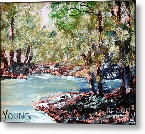 Paainting Metal Print featuring the painting River by Ellen Young