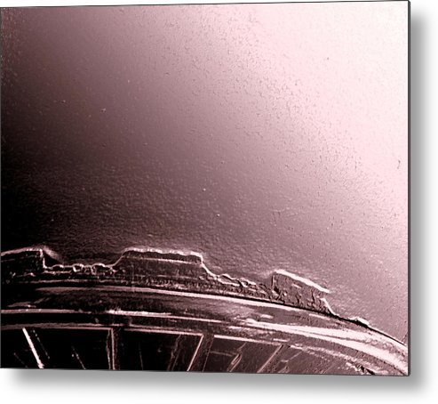 Abstract Metal Print featuring the photograph Roads To The Mesas by Lenore Senior