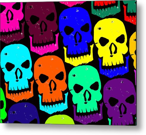 Halloween! Metal Print featuring the photograph Skulls by Jame Hayes