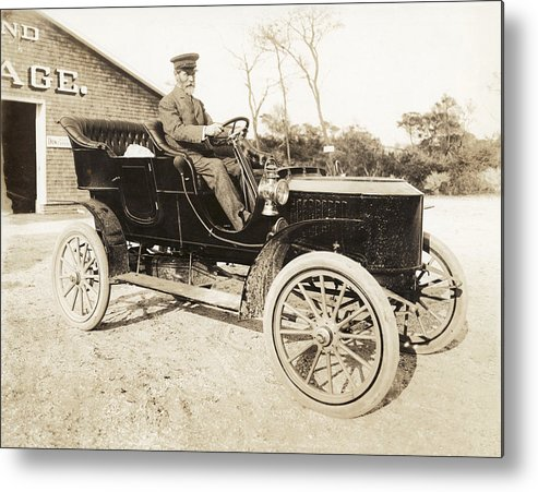 Stanley Rocket Metal Print featuring the photograph Stanley Steamer Car, 1906 by Photography Collection, Mirian And Ira D Wallach Division Of Art, Prints And Photographshumanities And Social Sciences Librarynew York Public Library