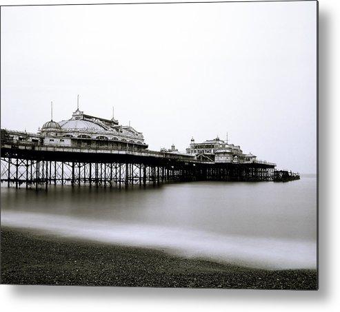Sea Metal Print featuring the photograph Brighton West Pier by Shaun Higson