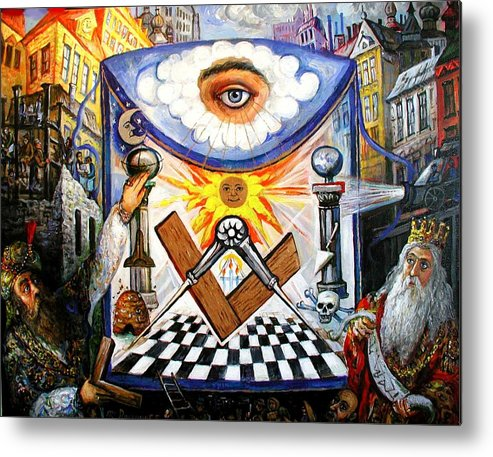 , The Masonic Apron, Morality History Allegory Metal Print