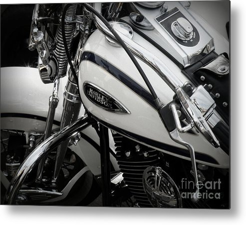 Harley Davidson Metal Print featuring the photograph 1 - Harley Davidson Series by Lainie Wrightson