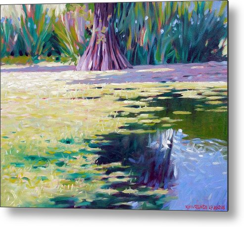 Water Metal Print featuring the painting Algae by Kevin Lawrence Leveque
