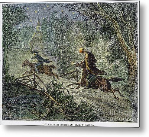 1876 Metal Print featuring the photograph Irving: Sleepy Hollow by Granger