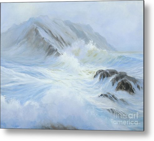 Seascape Metal Print featuring the painting Quiet Moment II by Glenn Secrest