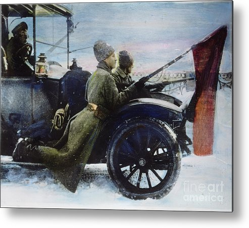 1917 Metal Print featuring the photograph Russian Revolution, 1917 by Granger