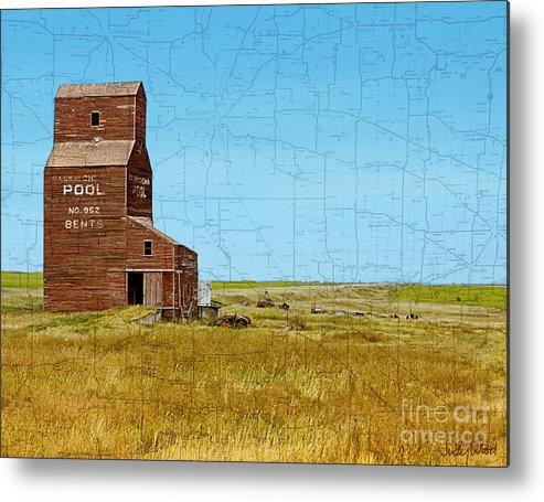 Grain Elevator Metal Print featuring the digital art Still Standing by Judy Wood