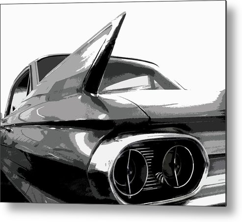 Cadillac Metal Print featuring the photograph When Fins Were Fashionable by Dick Goodman