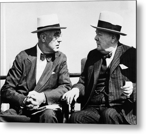 1940s Metal Print featuring the photograph World War II. Us President Franklin by Everett