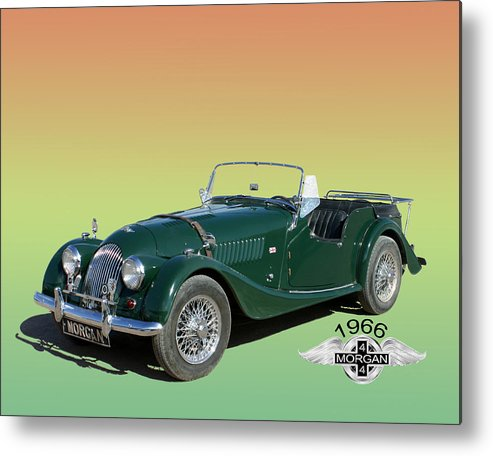 Photos Of Great British Sports Cars. Enhanced Photography Metal Print featuring the photograph 1966 Morgan 4 Plus 4 by Jack Pumphrey