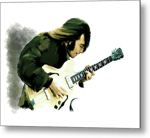 John Lennon Metal Print featuring the painting A Time It Was John Lennon by Iconic Images Art Gallery David Pucciarelli