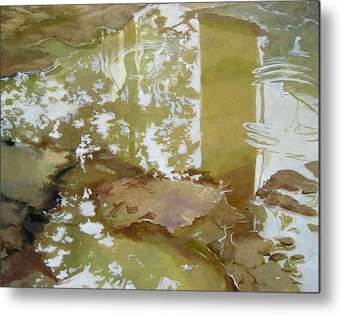 Rain Metal Print featuring the painting After The Rain by Denise Ivey Telep