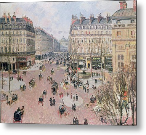Place Metal Print featuring the painting Afternoon Sun In Winter by Camille Pissarro
