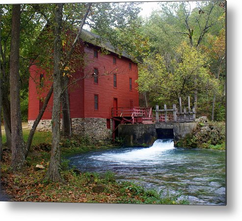 Ozarks Metal Print featuring the photograph Alley Sprng Mill 3 by Marty Koch