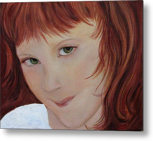 Portrait Metal Print featuring the painting Andee by Aimee Vance