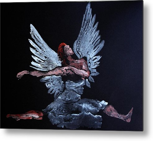 Angel Metal Print featuring the painting Angel by Ana Bikic