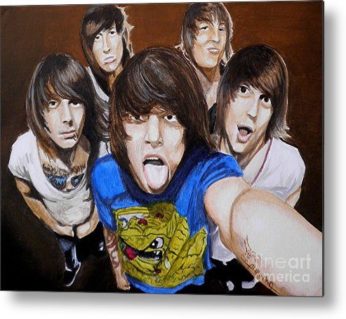 Rock Metal Print featuring the painting Asking Alexandria by Al Molina