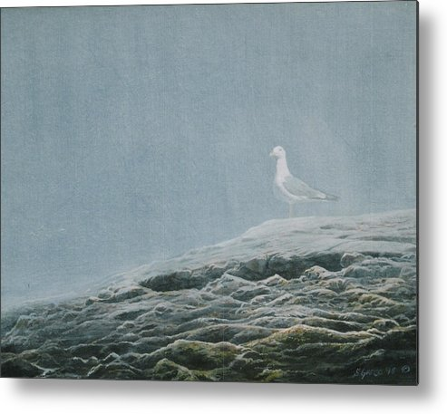 Wildlife Metal Print featuring the painting Aura At Odiorne by Steve Greco