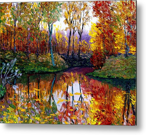 Lake Metal Print featuring the painting Avon by Stan Hamilton