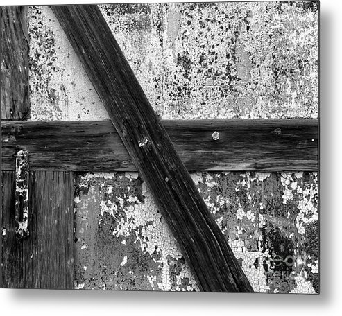 Cslanec Metal Print featuring the photograph Barn Door by Christian Slanec