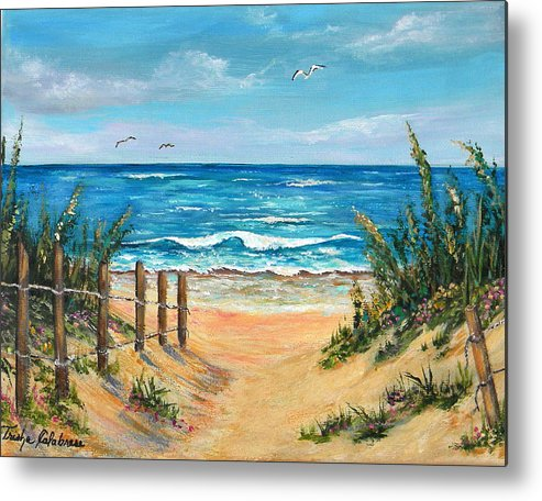 Sand Dunes Metal Print featuring the painting Beach Access by Trisha Calabrese