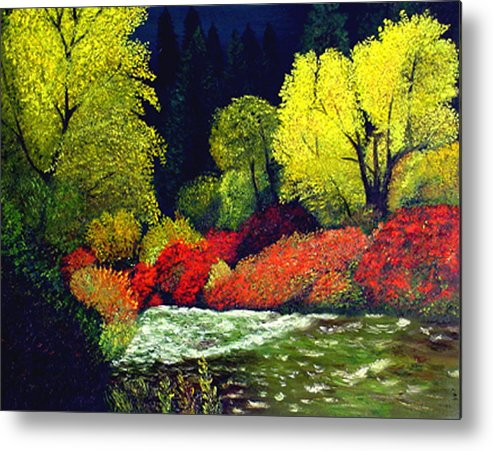 Landscape Metal Print featuring the painting Beauatiful Oregon by JoeRay Kelley