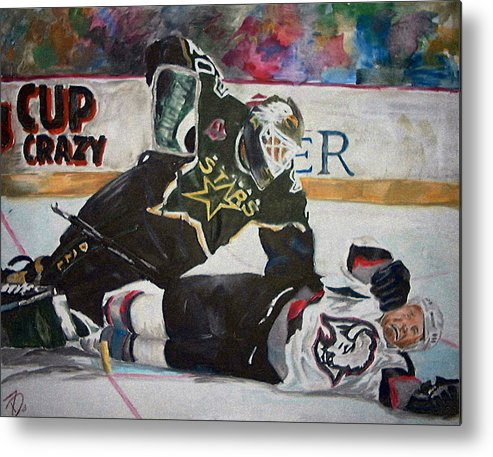 Belfour Metal Print featuring the painting Belfour by Travis Day