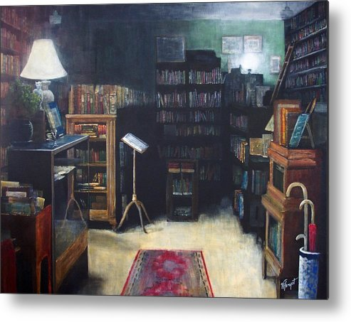 Library Metal Print featuring the painting Bibliopoly by Victoria Heryet